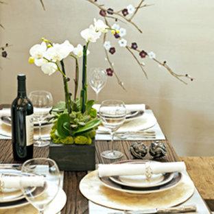 Свежая идея для дизайна: столовая в стиле фьюжн - отличное фото интерьера