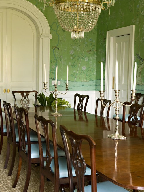 Blue and green dining room houzz for Best dining rooms houzz