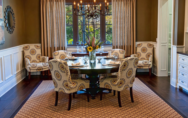 Traditional Dining Room by Jill Wolff Interior Design