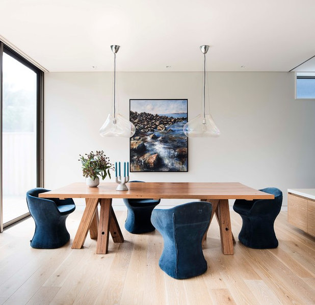 Beach Style Dining Room by Art2Muse Gallery
