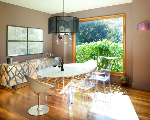 Mid sized contemporary medium tone wood floor and brown floor great room  idea in San. Sideboard Dining Room   Houzz