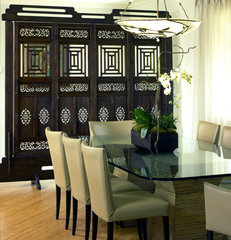 asian dining room by Diane Bennett Bedford