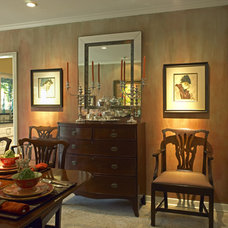 Traditional Dining Room by Diane Bennett Bedford