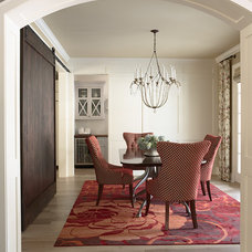 transitional dining room by Martha O'Hara Interiors