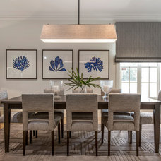Transitional Dining Room by Highgate House