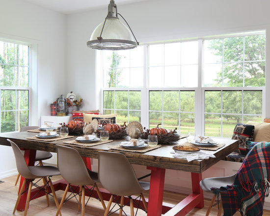 farmhouse dining room design ideas, remodels & photos