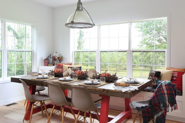 Farmhouse Dining Room by Paradigm Renovation