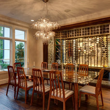 Transitional Dining Room by Frankel Building Group
