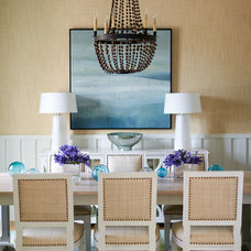 Beach Style Dining Room by Andrew Howard Interior Design