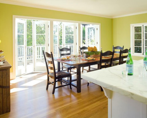 example of a mid sized classic kitchendining combo design in san francisco with - Country Dining Rooms