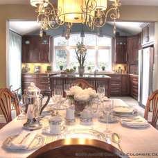 Contemporary Dining Room by Andre Couture Coloriste Decorateur