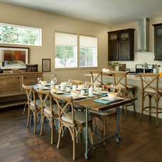 Transitional Dining Room by Brookfield Residential Colorado
