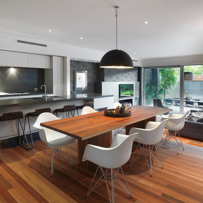 Example of a trendy great room design in Melbourne