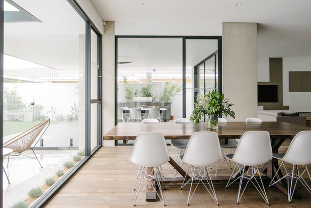 Contemporary Dining Room by Finesse Built