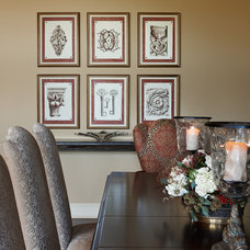 Traditional Dining Room by k.c. interiors inc