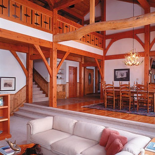 This is an example of a beach style dining room in Vancouver.