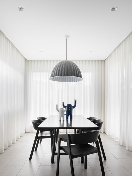 Design Ideas For A Modern Separate Dining Room In Sydney With White Walls  And No Fireplace