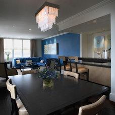 Contemporary Dining Room by Deniece Duscheone Design