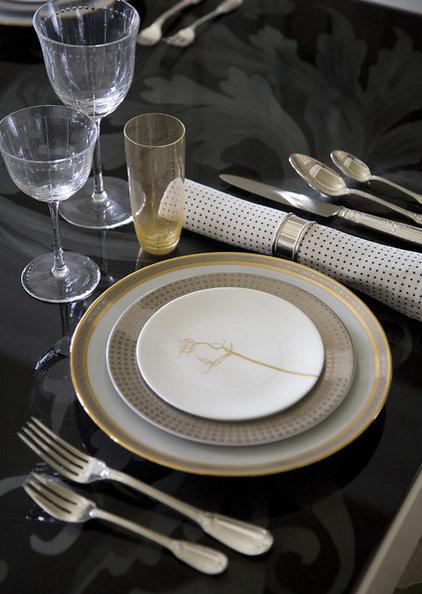 Eclectic Dining Room by Steven Miller Design Studio, Inc.