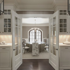 traditional dining room by Castro Design Studio