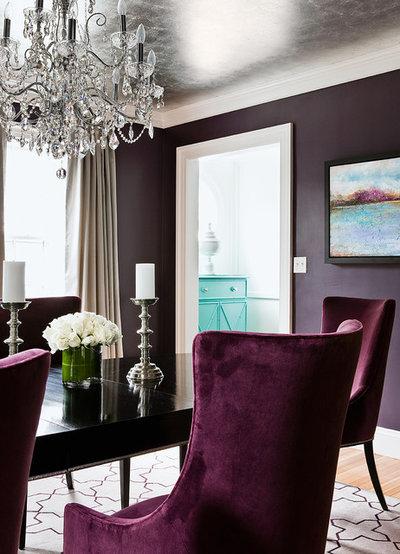 Transitional Dining Room by Kristine Mullaney Design, LLC
