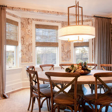 Transitional Dining Room by Dietz & Associates Inc.