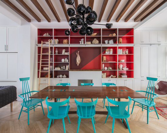 turquoise dining chair | houzz