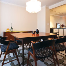 Midcentury Dining Room by Shelly Chung Design