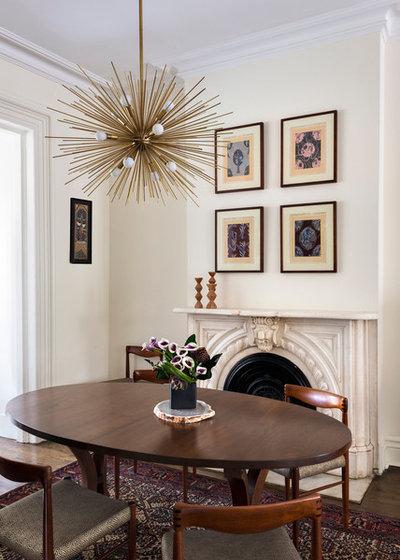 Transitional Dining Room by Elizabeth Bolognino Interiors LLC