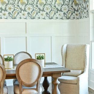 Inspiration for a country dining room in Indianapolis.