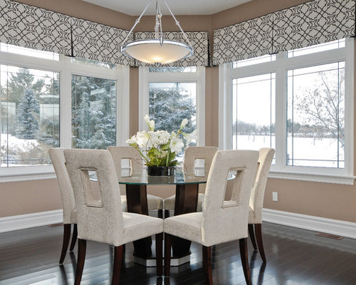Bay window valance houzz - Modern valances for kitchen ...