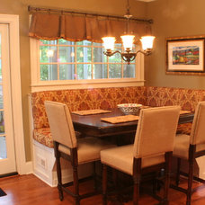 Traditional Dining Room by The Cabinet Crew