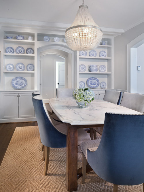 Inspiration For A Transitional Dining Room Remodel In DC Metro With Gray Walls