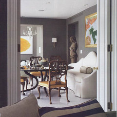eclectic dining room by BROWN DAVIS INTERIORS, INC.