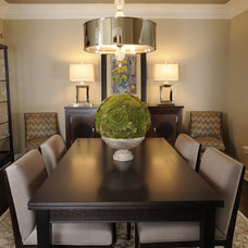 Eclectic Dining Room by Susan Brunstrum of SWEET PEAS DESIGN INC