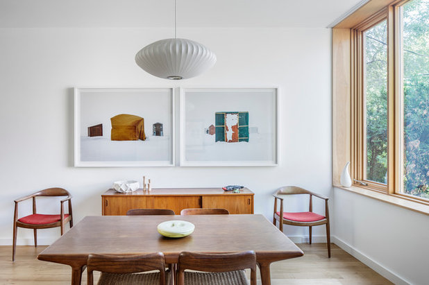Midcentury Dining Room by Kyra Clarkson Architect