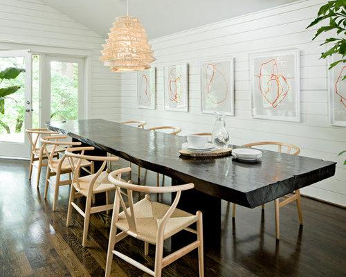 Dark Table Light Chairs Houzz