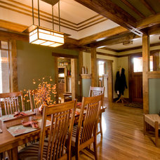 Craftsman Dining Room by Trey Cole Design & Construction
