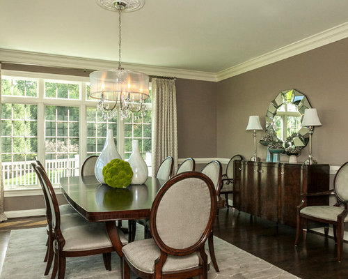 Best Green Dining Room With Brown Walls Design Ideas