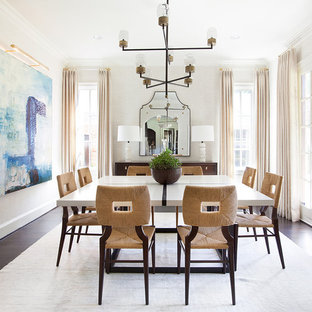 Inspiration For A Large Transitional Dark Wood Floor Kitchen Dining Room Combo Remodel In Dallas