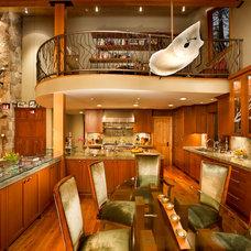 Transitional Dining Room by Elise Fett & Associates, Ltd.
