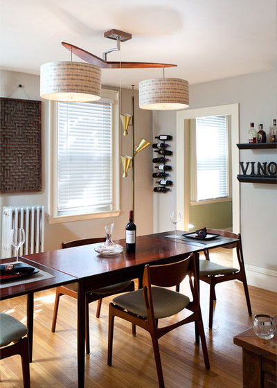 Midcentury Dining Room by Inspired Wire Studio
