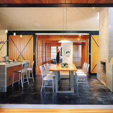 Rustic Dining Room by David Coleman / Architecture