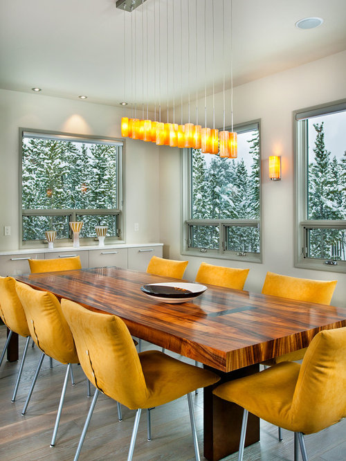 Kitchen dining combo design ideas renovations photos for 3 sided dining room table