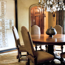Mediterranean Dining Room by Joel Kelly Design