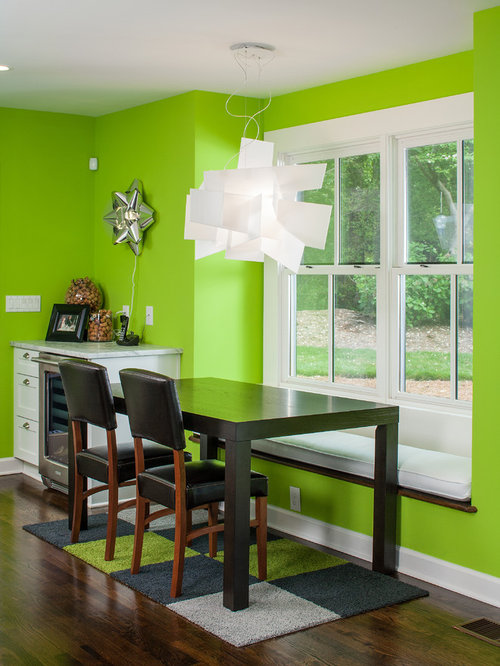Lime green dining room design ideas remodels photos for Neon green room decor
