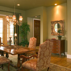 Traditional Dining Room by Collins Group Design, Inc.