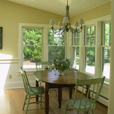 Farmhouse Dining Room by Eclectic Architecture, LLC
