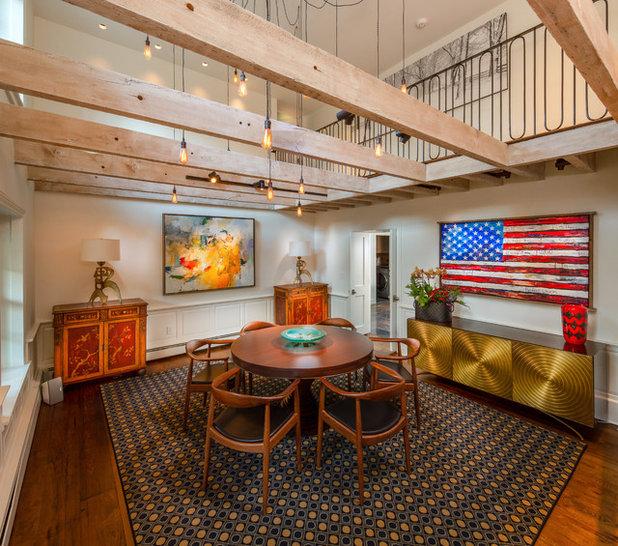 Rustic Dining Room by Wolstenholme Associates, LLC