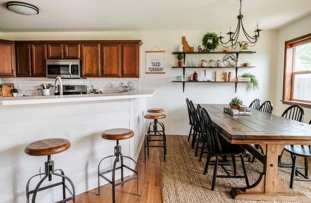 Farmhouse Dining Room by Joyfully Growing Blog, LLC